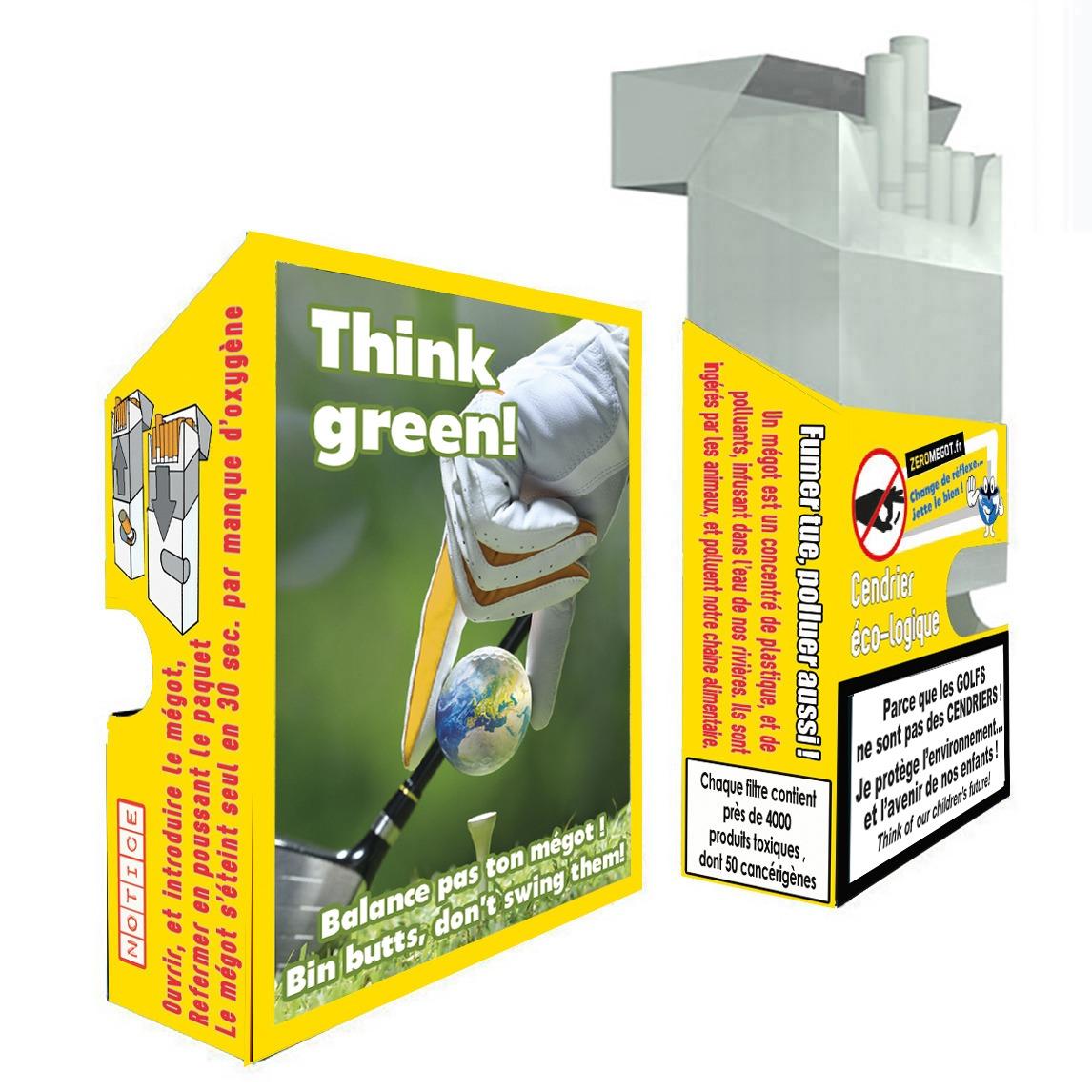 Pocket zero megot golf