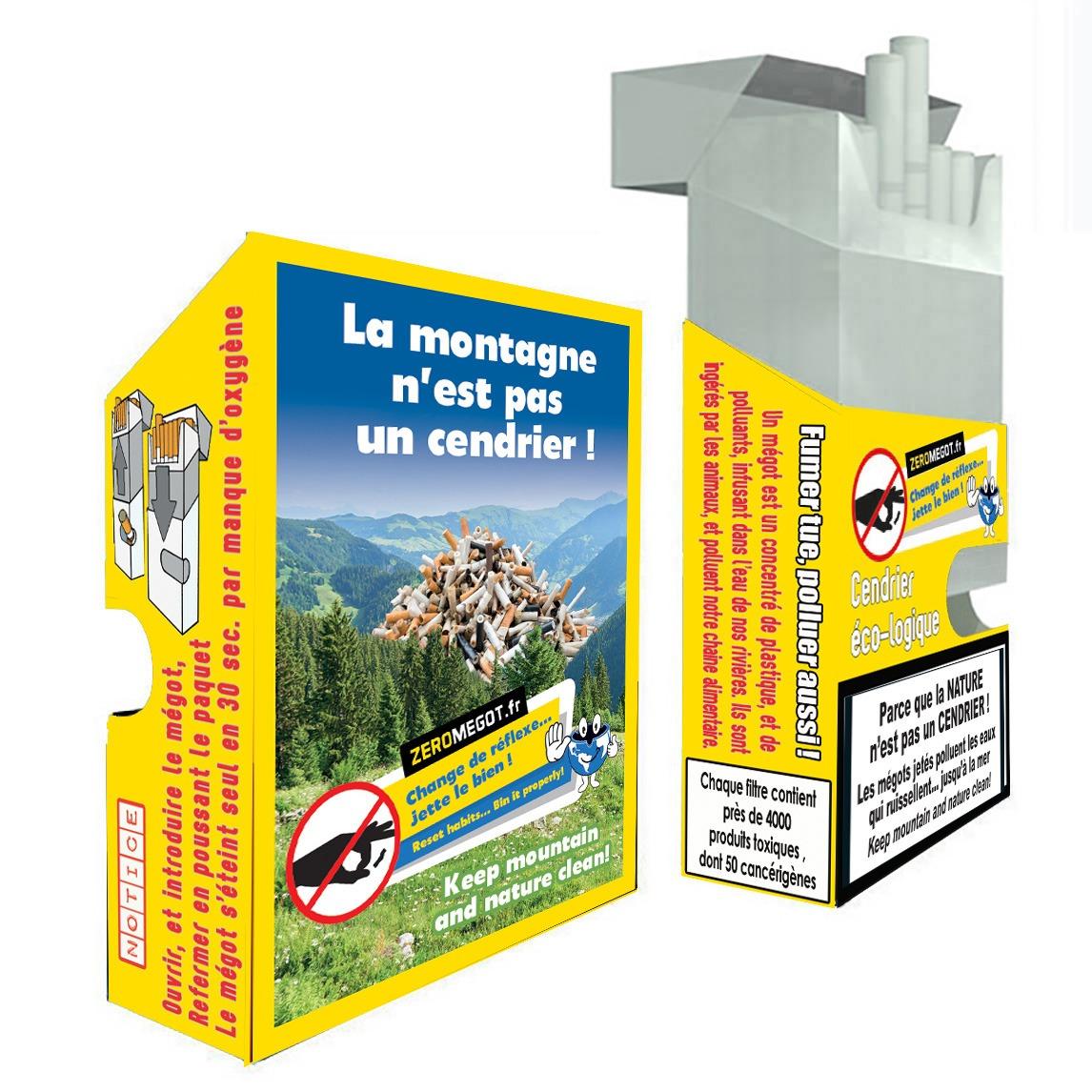 Pocket zero megot montagne